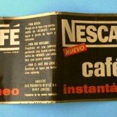 Etiquetas antiguas: ANTIGUA ETIQUETA DE NESCAFE (NESTLÉ LA PENILLA SANTANDER) 50 G 6,5X20 CM (AÑOS 60) CAFE INSTANTANEO. Lote 220069466
