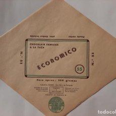 Etiquetas antiguas: ENVOLTORIO CHOCOLATES ESTEVE CASES. Lote 221705297