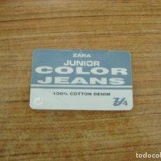 Etiquetas antiguas: ETIQUETA ZARA JUNIOR COLOR JEANS. Lote 221708168