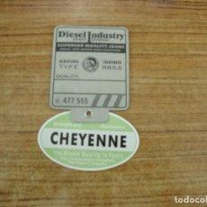 Etiquetas antiguas: ETIQUETA DIESEL INDUSTRY CHEYENNEJEANS. Lote 221708412