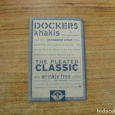 Etiquetas antiguas: ETIQUETA DOCKERS JEANS. Lote 221709508