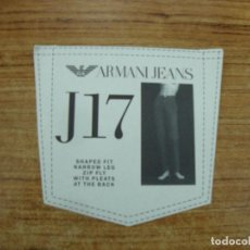 Etiquetas antiguas: ETIQUETA ARMANI JEANS J17. Lote 221710563
