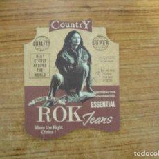 Etiquetas antiguas: ETIQUETA ROK JEANS. Lote 221710735