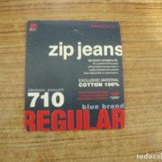 Etiquetas antiguas: ETIQUETA ZIP JEANS. Lote 221710887
