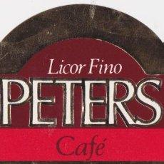 Etiquetas antiguas: ETIQUETA DE LICOR FINO PETERS - PETERS HNOS. - ARGENTINA. Lote 221714287
