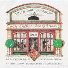 Etiquetas antiguas: ETIQUETA DE VIN DE TABLE D'ESPAGNE - LE CELLIER DES GÔNES - ASPIRAN. Lote 221714983