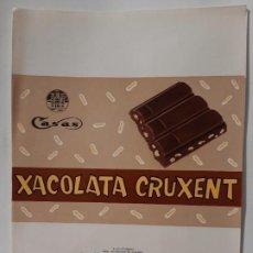 Etiquetas antiguas: ENVOLTORIO CHOCOLATES ESTEVE CASES. Lote 221816743