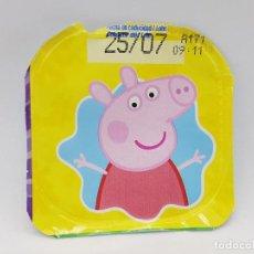 Etiquetas antiguas: TAPA DE YOGUR CLESA COLECCION PEPPA PIG 2020 - PEPPA PIG. Lote 221852228