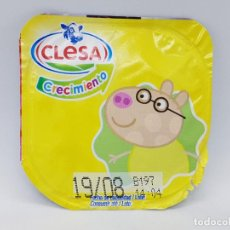 Etiquetas antiguas: TAPA DE YOGUR CLESA COLECCION PEPPA PIG 2020 - PEDRO PONY. Lote 221852231