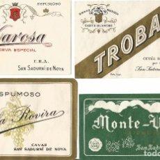 Etiquetas antiguas: ETIQUETAS DE VINOS ESPUMOSOS ANTIGUAS. Lote 222018547