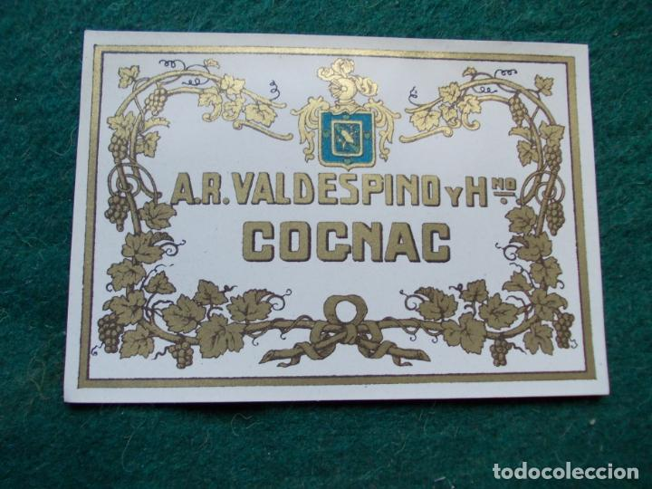 ETIQUETA DE VINOS VALDESPINO COÑAC (Coleccionismo - Etiquetas)