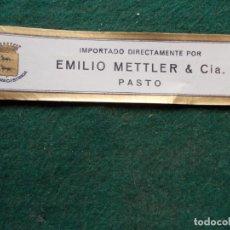 Etiquetas antiguas: ETIQUETA DE VINOS EMILIO METTLER PASTO. Lote 222025765