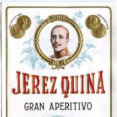 Etichette antiche: ANTIGUA ETIQUETA CROMOLITOGRÁFICA JEREZ QUINA MANUEL GUERRERO Cª JEREZ DE LA FRONTERA CADIZ. Lote 222494548