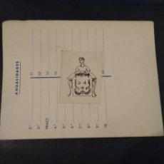 Etiquetas antiguas: FICHA COMERCIAL DE MARCAS Y PATENTES. SEMPERE. VENTA MATERIALES PARA LA CONFECCIÓN DE ALFOMBRAS.. Lote 222760407