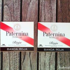 Etiquetas antiguas: PATERNINA LOTE 2 ETIQUETAS ORIGINALES BANDA ROJA (RESERVA 1995). Lote 222795432