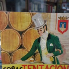 Etiquetas antiguas: ANTIGUA ETIQUETA COÑAC TENTACION DESTILERIA OLIVARES LORCA MURCIA. Lote 223627940