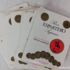 Etiquetas antiguas: GRAN LOTE DE ETIQUETAS -RON ESPARTERO SUPERIOR-ORTIZ&SAENZ-LOGROÑO. Lote 224710943