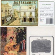 Etiquetas antiguas: LOTE DE ETIQUETAS,POSTALES,COLLARINES,CONTRAETIQUETAS,ETC - TEMA VINO - LOS DE LA FOTO. Lote 232511930