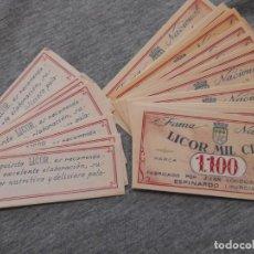 Etiquetas antiguas: LOTE ETIQUETAS ANTIGUAS LICOR MIL CIEN, MURCIA. Lote 234330275