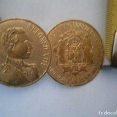 Etiquetas antiguas: ETIQUETA PUBLICITARIA AÑOS 40/50, S.M. EL REY ALFONSO XIII. Lote 234459700
