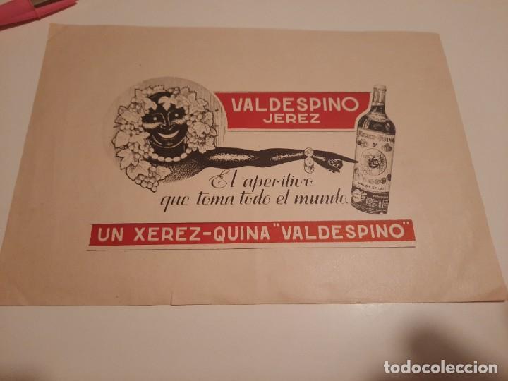 ETIQUETA PUBLICIDAD.VALDESPINO (Coleccionismo - Etiquetas)
