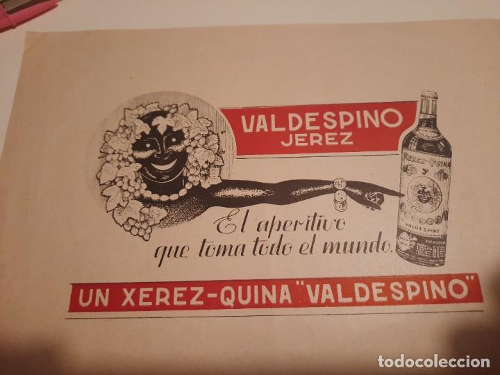 Etiquetas antiguas: Etiqueta publicidad.valdespino - Foto 2 - 234774365