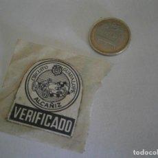 Etiquetas antiguas: ETIQUETA PUBLICITARIA AÑOS 40/50, VERIFICADO, ALCAÑIZ. Lote 235475985