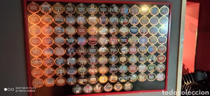 Etiquetas antiguas: Colección etiquetas Estrella Galicia 110 Aniversario, numerada, ordenada, terminada y encuadrada, - Foto 2 - 237210820