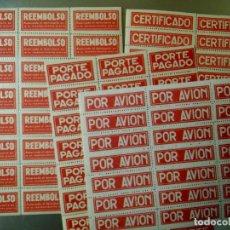 Etiquetas antiguas: ANTIGUAS ETIQUETAS ENGOMADAS Y PERFORADAS - 1950. Lote 237211030