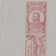 Etiquetas antiguas: LOTE W-ETIQUETA ENVOLTORIO PIMENTON AZAFRAN ESPECIAS CERVANTES MURCIA. Lote 268910359