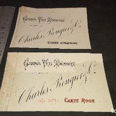 Etiquetas antiguas: LOTE DE 2 ETIQUETAS DE 1894 , DE VINO , GRANDS VINS MOUSSEUX , ROSE AND ARGENT . LEER DESCRIPCION. Lote 237608670