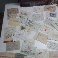 Etiquetas antiguas: LOTE 28 TARJETAS VISITA DE MADRID. Lote 241250985
