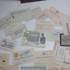 Etiquetas antiguas: LOTE 23 TARJETAS DE VISITA MADRID. Lote 241383520