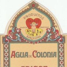 Etiquetas antiguas: ETIQUETA - FRICOT - AGUA DE COLONIA - PRODUCTOS PERFUMERIA - BARCELONA - NUEVA. Lote 269594378