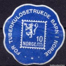 "Etiquetas antiguas: VIÑETA NORUEGA "" FOR TUBERKULOSE TRUEDE BARN I NORGE"". Lote 244759935"