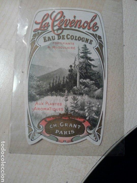 ETIQUETA AGUA DE COLONIA EAU D COLOGNE LA CEVENOLE CH. GRANT PARIS (Coleccionismo - Etiquetas)