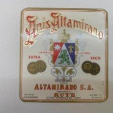 Etiquetas antiguas: ETIQUETA ANIS ALTAMIRANO. Lote 245554200