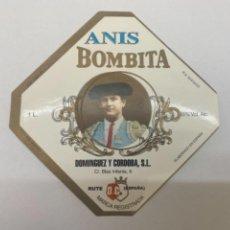 Etiquetas antiguas: ANIS BOMBITA RUTE. Lote 245556550