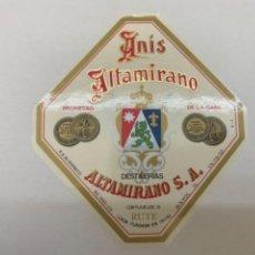 Etiquetas antiguas: ETIQUETA ANIS ALTAMIRANO RUTE. Lote 245556745