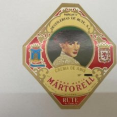 Etiquetas antiguas: ETIQUETA ANIS MARTORELL RUTE. Lote 245557010