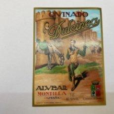 Etiquetas antiguas: ETIQUETA QUINADO DULCINEA MONTILLA. Lote 245559555