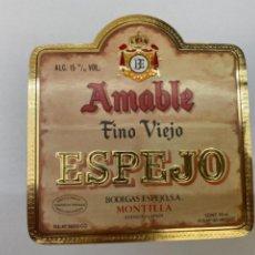 Etiquetas antiguas: ETIQUETA FINO VIEJO AMABLE MONTILLA. Lote 245559860