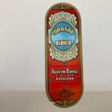 Etiquetas antiguas: ETIQUETA CURASAO BLANCO AGUSTIN BOFILL. Lote 245560225