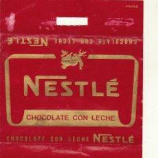 Etiquetas antiguas: ENVOLTORIO CHOCOLATE CON LECHE NESTLE. Lote 245569870