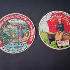 Etiquetas antiguas: LOTE DE ETIQUETAS DE QUESO. Lote 246345630
