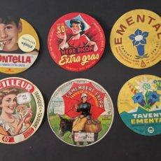 Etiquetas antiguas: LOTE DE ETIQUETAS DE QUESO. Lote 246346590