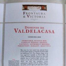 Etiquetas antigas: ETIQUETA VINO, DOMINIO DE VALDELACASA, BODEGAS FRONTAURA 2018. TORO DENOMINACIÓN DE ORIGEN.. Lote 266719843