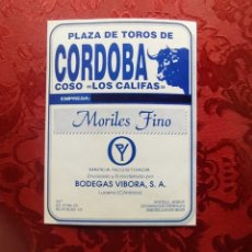 Etiquetas antiguas: MORALES FINO PLAZA DE TOROS DE CORDOBA LOS CALIFAS. Lote 252085140