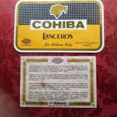 Etiquetas antiguas: COHIBA ETIQUETA. Lote 252086805