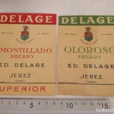 Étiquettes anciennes: ETIQUETAS ANTIGUAS BODEGAS JEREZ.EN IMAGEN.FOTOS. Lote 252619190